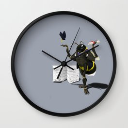 To Bee or Not Too Bee (Colour) Wall Clock