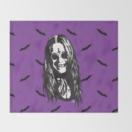 OZZY: Purple Sabbath Throw Blanket