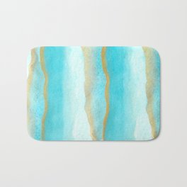 Gold and blue sea Bath Mat