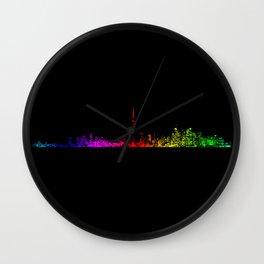 Toronto Rainbow Wall Clock