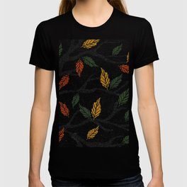 Last Autumn Leaves Watercolor T-shirt
