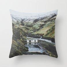 Seljavallalaug, Iceland Throw Pillow