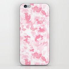 Abstract Flora Millennial Pink iPhone Skin