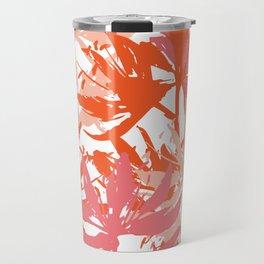 coral flowers Travel Mug