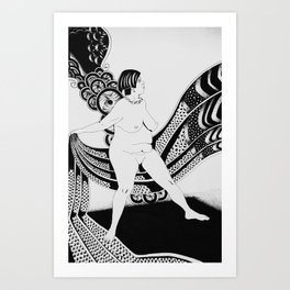Crisalida black and white Art Print