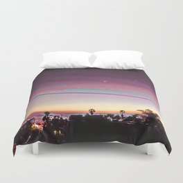 Cardiff Sunset Duvet Cover