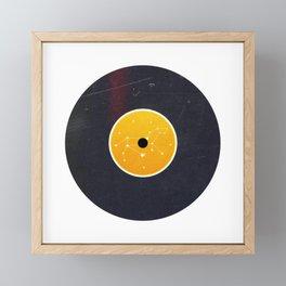 Vinyl Record Star Sign Art | Leo Framed Mini Art Print