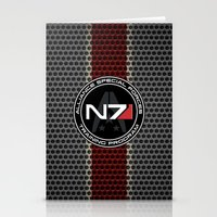 n7 Stationery Cards featuring N7 by aleha