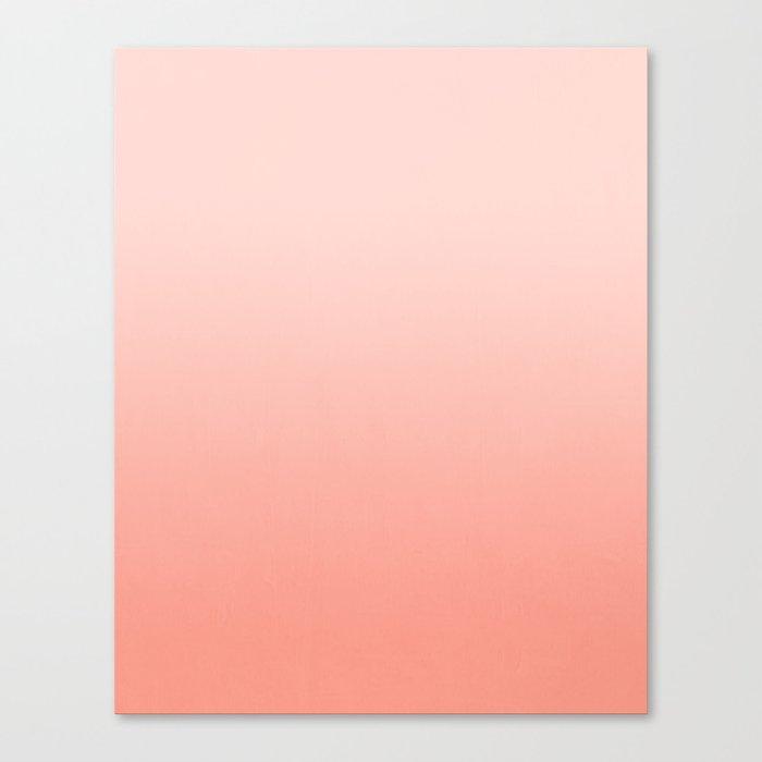 Ombre pastel fade peach blush coral gender neutral basic canvas art print minimalist Canvas Print