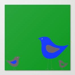 Simple Vector Birds- Pink Canvas Print