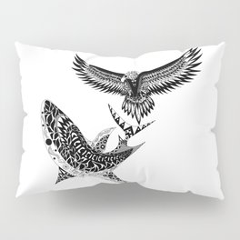 crouching shark hidden eagle Pillow Sham
