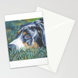 Greater Swiss Mountain Dog portrait art from an original painting by L.A.Shepard Stationery Cards