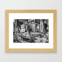 Times Square II (B&W widescreen) Framed Art Print