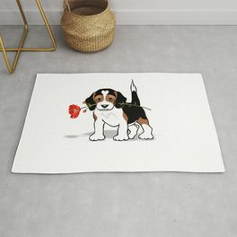 The Love Puppy — Flower Rug