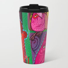 doodle animals hanging out Travel Mug