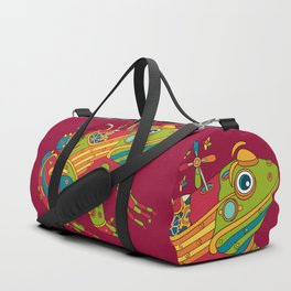 Frog, cool wall art for kids and adults alike Duffle Bag