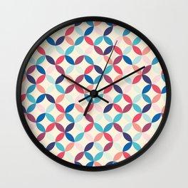 Blue and pink circles Wall Clock