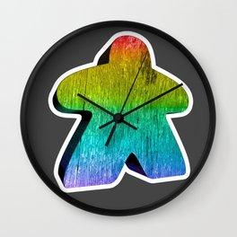 Giant Rainbow Meeple Wall Clock