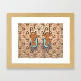 Antelope Trophies Framed Art Print