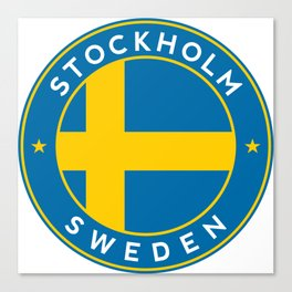 Sweden, Stockholm, circle Canvas Print