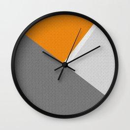 Orange And Gray Wall Clock