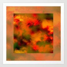 Cosmic clouds in 3D Cube Art Print