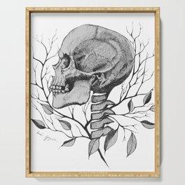 Skull in Ornament Serving Tray