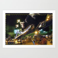 Oppie Over DUMBO Art Print