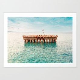 Crash Boat Beach Art Print