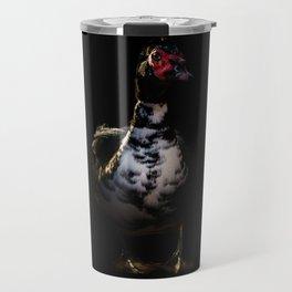 Muscovy Duck Portrait Travel Mug