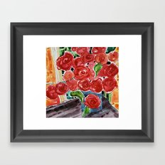 I love red Framed Art Print