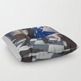 clandestine kiss Floor Pillow