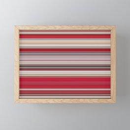 Modern Red Tan Line Decor Framed Mini Art Print