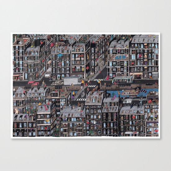 Parisian Neighbourhood Canvas Print