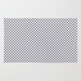 Lilac Gray and White Polka Dots Rug