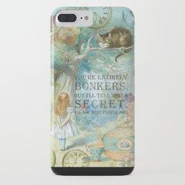 Wonderland - Bonkers Quote - Vintage Style iPhone Case