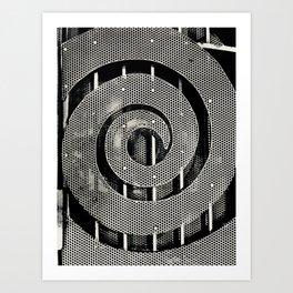 Swirling Fence Art Print