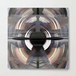 Tunnel vision, modern fractal abstract art Metal Print