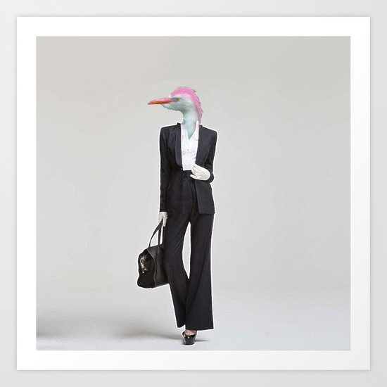 Fashion Feathers Art Print