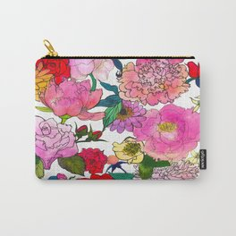 Peonies & Roses Carry-All Pouch