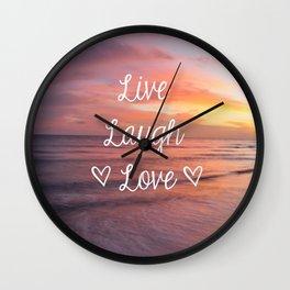 Live Laugh Love - Beach Wall Clock