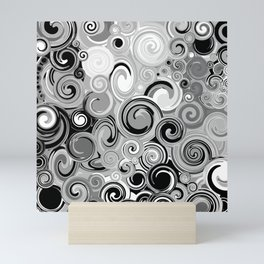 Smoke Stack Spirals Mini Art Print