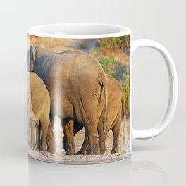 Elephants at a river, Africa wildlife Coffee Mug