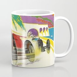 Vintage 1932 Monaco Grand Prix Racing Advertising Poster Coffee Mug