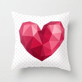 Polygonal heart Throw Pillow