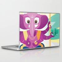 ganesh Laptop & iPad Skins featuring Ganesh by Penguinboy