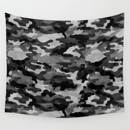 Camouflage (Gray) Wall Tapestry