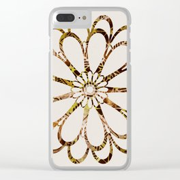 Floral Design Ornament Clear iPhone Case
