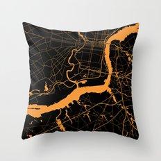 Philadelphia - The Orange and the Black Throw Pillow