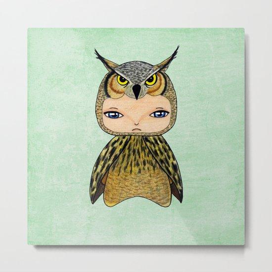 A Boy - Owl Metal Print